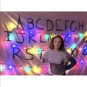 Homemade Stranger Things Wall Hanging - Alphabet